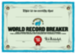 World Record Breaker Certificate