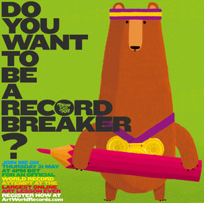 Calling all wannabe record breakers!! Register for the world's largest ever online art lesson wiht Rob Biddulph at www.artworldrecords.com. It's free and starts 4pm BST 21st May! Access the live streamed lesson at  https://www.youtube.com/watch?v=OSUN5vR4QZY