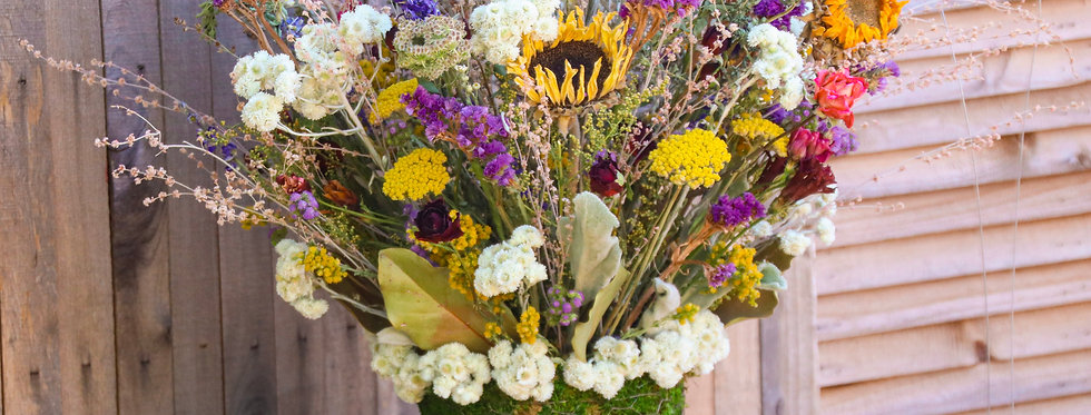 """Everlasting """"Over-the-Top"""" Dried Floral Arrangement"""