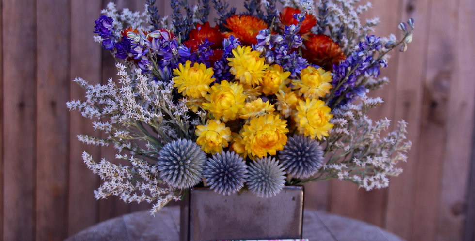 """Everlasting """"Just Right"""" Dried Floral Arrangement"""