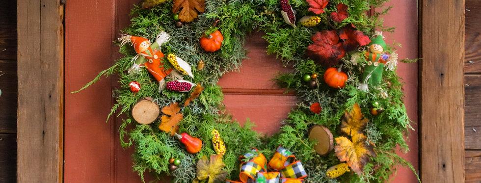 Fall Whimsical and Festive Wreath