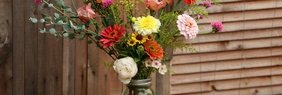 Just Right Mason Jar Bouquet