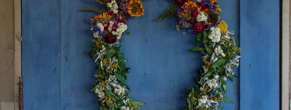Everlasting Flowers To The Top - Dried Floral Wreath