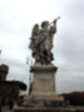 Engel met speer op de Engelenbrug, Ponte Sant'Angelo Rome