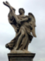 Engel met een kruis op de Engelenbrug, Ponte Sant'Angelo Rome