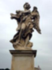 Engel met boodschap op de Engelenbrug, Ponte Sant'Angelo Rome