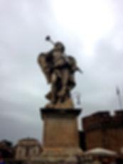Engel met staaf op de Engelenbrug, Ponte Sant'Angelo Rome