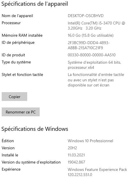 À propos (Windows 10)
