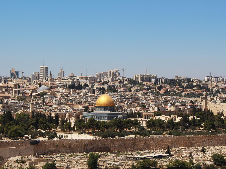 13 Jerusalem - Vista da cidade Velha atr