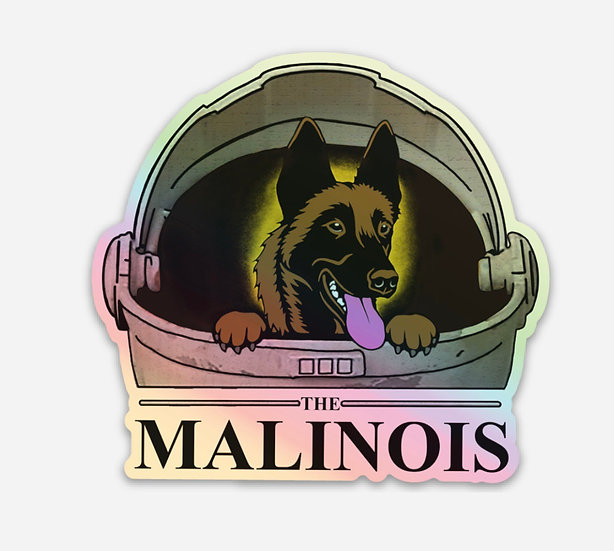 Holographic The Malinois sticker