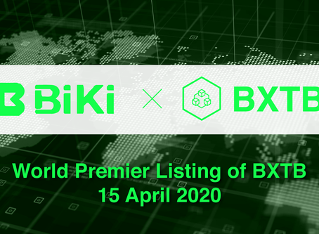 BXTB listed on BiKi Exchange on April 15, 2020