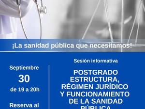 Sesión informativa 30 de septiembre a las 19h. Postgrado. Te esperamos!!!