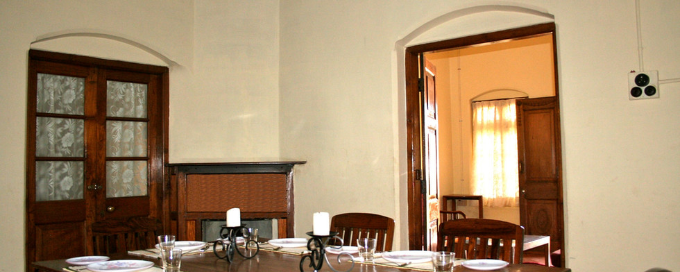 Dining Room at the Bungalow in Ooty