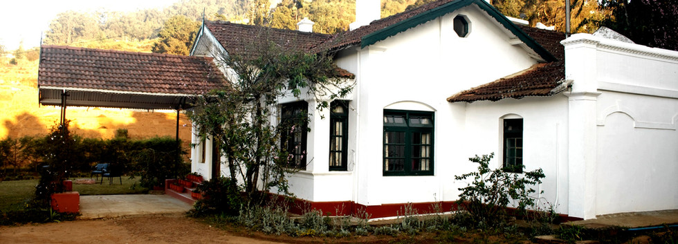 the bungalow in Ooty from the outside