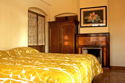 an individual fire place in each guestroom