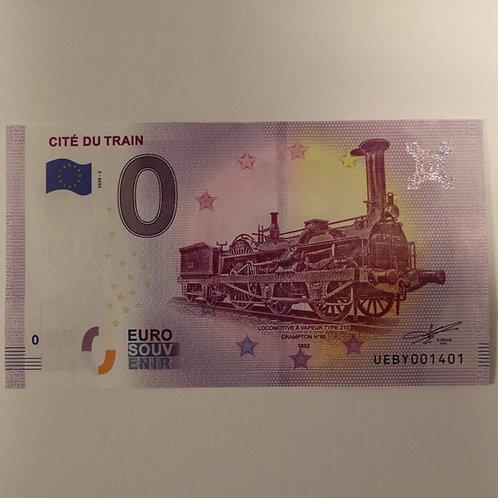 Billet Euro Souvenir Crampton, Cité du Train