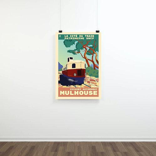 """Affiches vintage """"Été 2020"""", Cité du Train - ©Collectif 2920g"""
