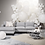 Thumbnail: BOLIA Scandinavia 2,5 seater sofa bed with chaise longue