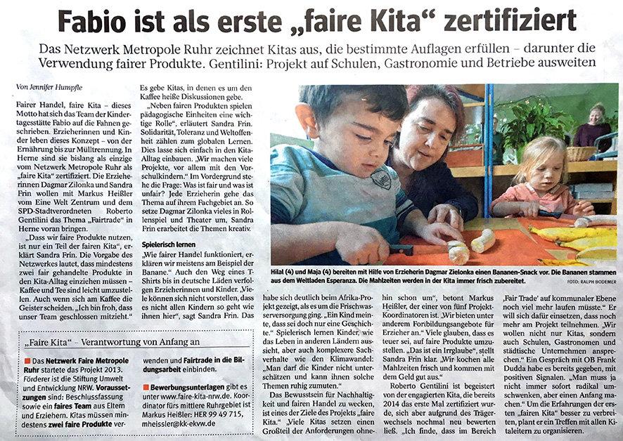 AWO Kita FaBiO e.V. - FaBiO erste faire Kita Netzwerk Metropole Ruhr