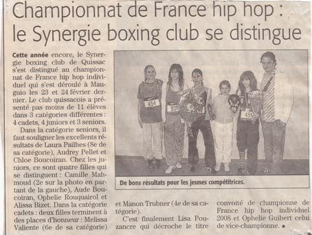 Un beau podium au Championnat de France Hip Hop individuel en 2008
