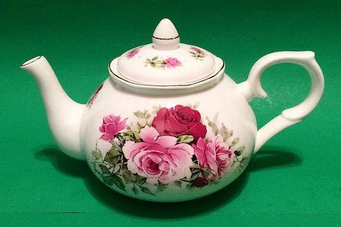 Summertime Pink Amber Teapot