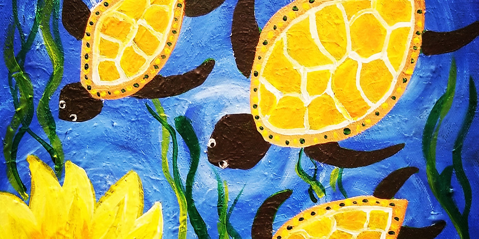 Sea Turtles and Sunflowers
