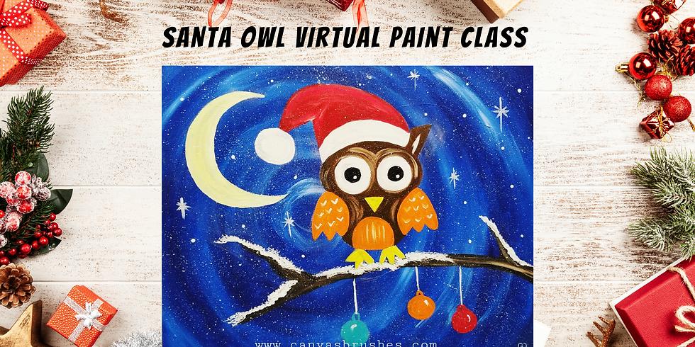 Santa Owl Virtual Paint Class