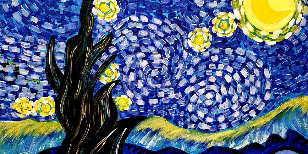 Starry Night Paint & Sip @Loading Gastrobrunch