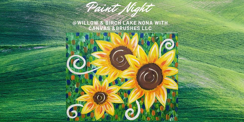 Feeling Sunflowery Paint Night