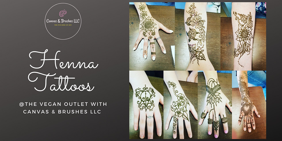 Henna Tattoos @The Vegan Outlet