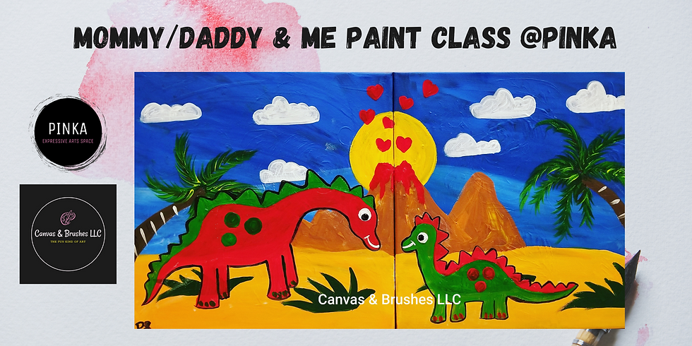 Mommy/Daddy & Me Paint Class @Pinka
