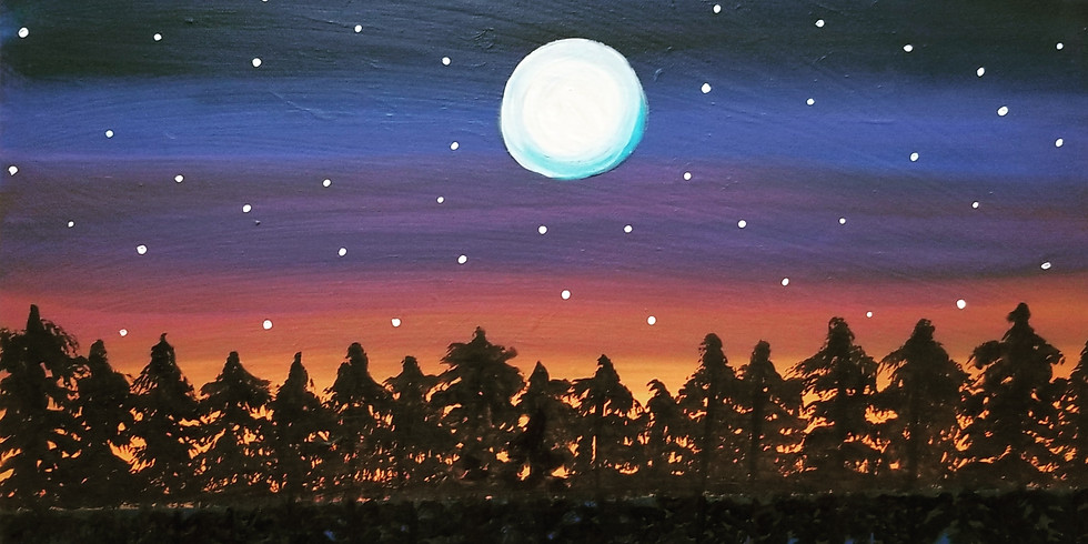 The Night of the Full Moon Virtual Paint Class