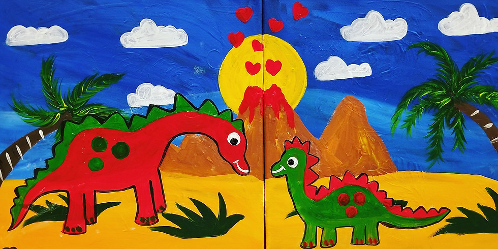 Mommy/Daddy & Me Dino Virtual Paint Class