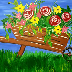 Spring wheelbarrow
