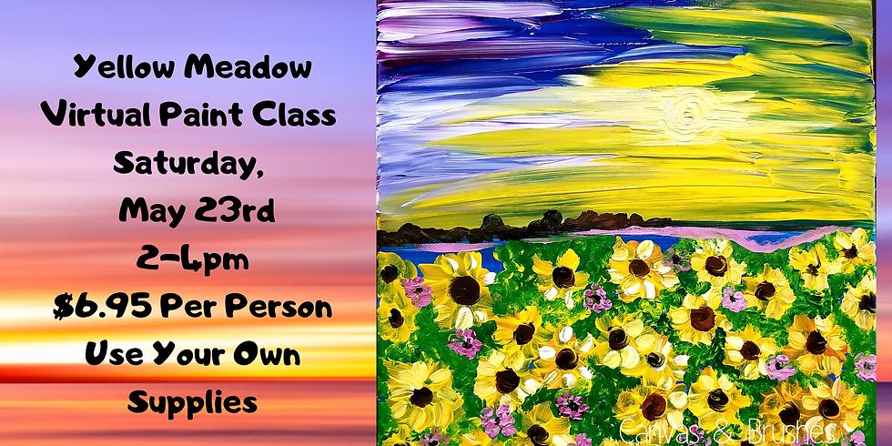 Yellow Meadow Virtual Paint Class