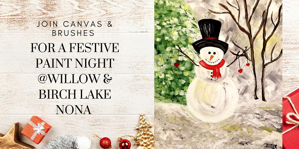 Christmas Snowman Paint Night