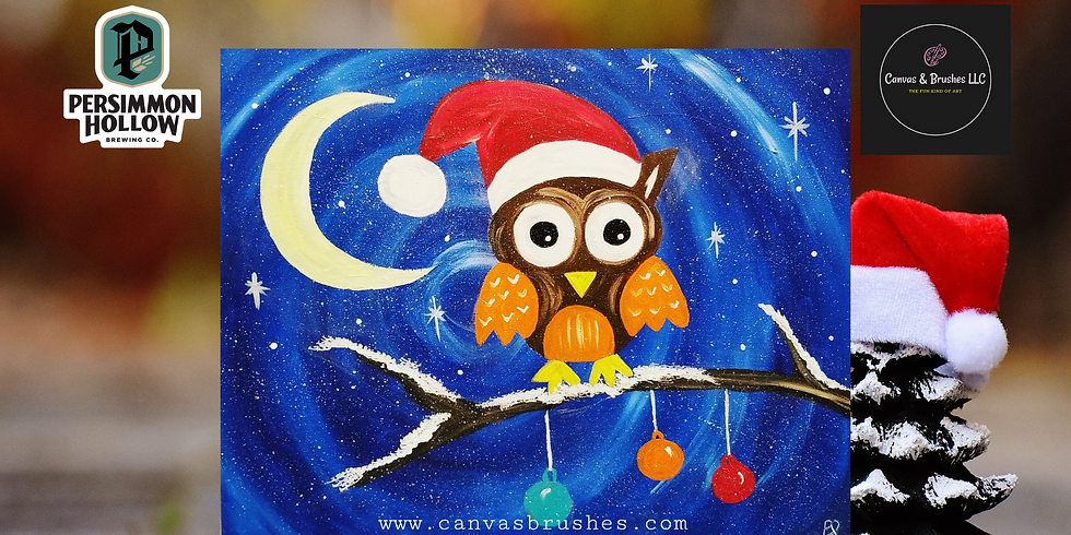 Santa Owl  Paint & Sip @Persimmon Hollow Brewing Co.