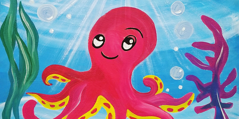 Happy Octopus Virtual Paint Class