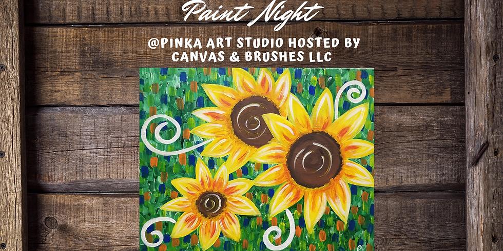 Feeling Sunflowery Paint & Sip @Pinka