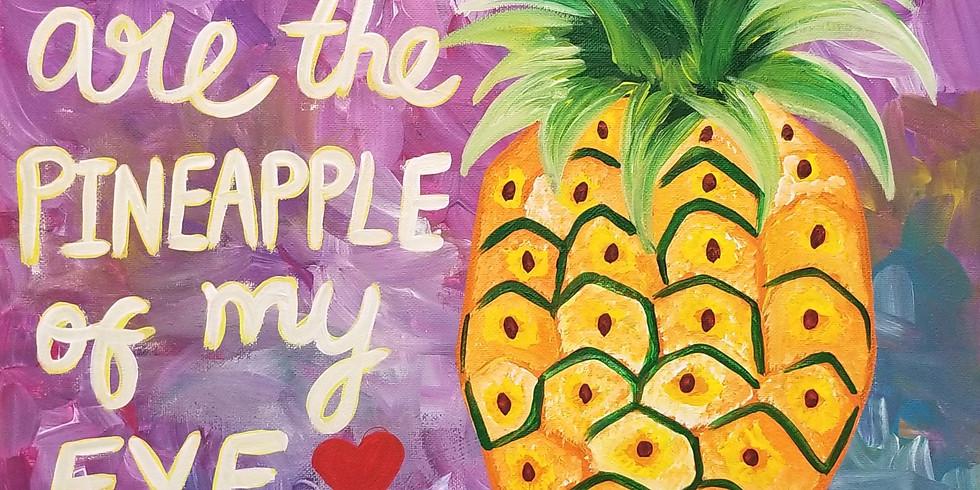 Pineapple of my Eye Virtual Paint Class