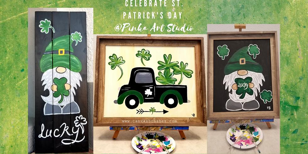 St. Patrick's Day Paint & Sip @Pinka