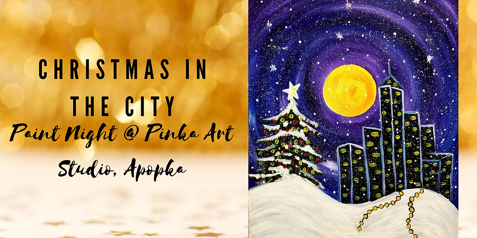 Christmas in the City Paint Night @Pinka