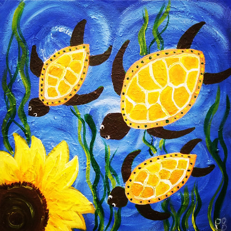 Sunflowers & Sea Turtles