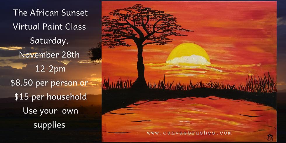 African Sunset Virtual Paint Class
