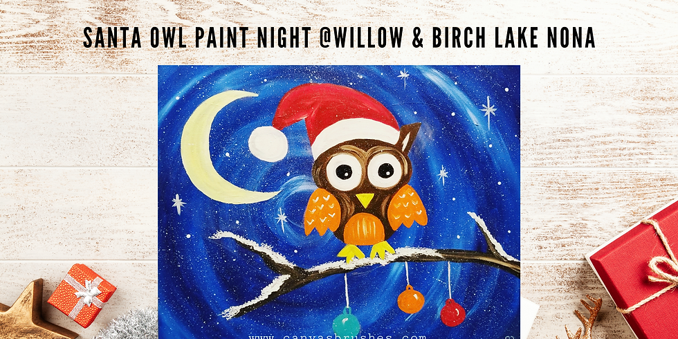 Santa Owl Paint Night