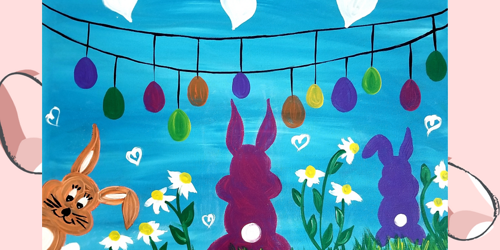 Virtual Storytelling Easter Bunny Paint Class