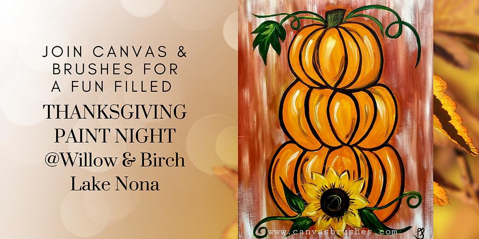 Pumpkins and Sunflowers Paint Night