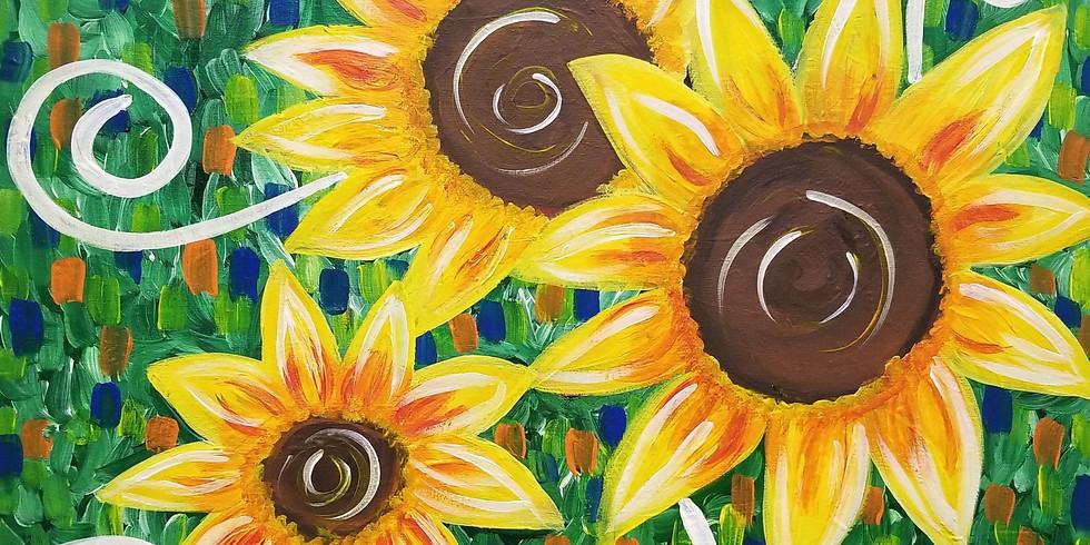 "Feeling ""Sunflowery"" Virtual Paint Class"