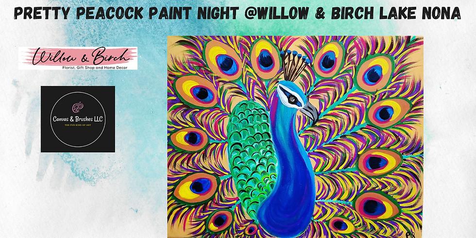 Pretty Peacock Paint Night @Willow & Birch Lake Nona