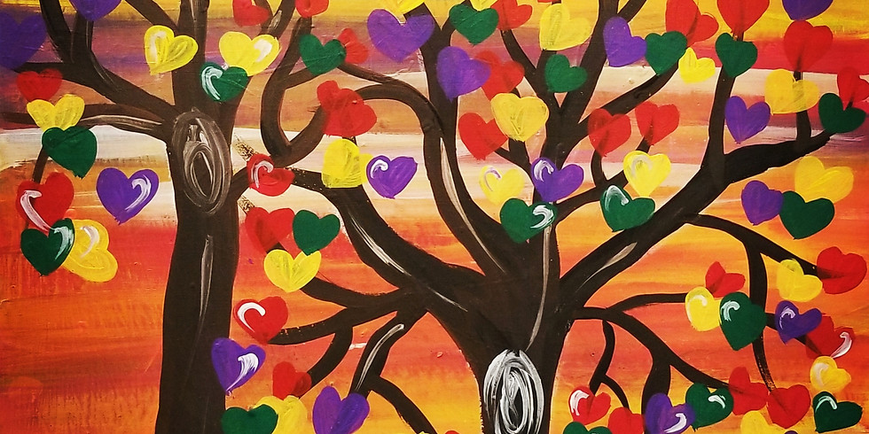 Trees of Love Virtual Paint Class